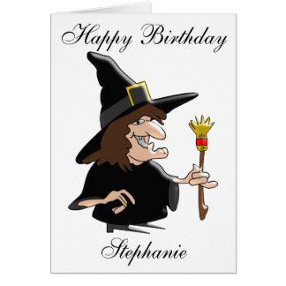Tarjeta La bruja apenas añade el cumpleaños conocido