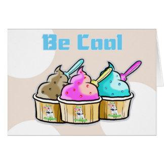 Tarjeta la buena suerte, sea helado fresco