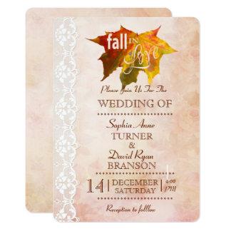 Tarjeta La caída elegante en el boda romántico del amor