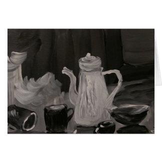 Tarjeta La caldera y las tazas, se unen a nos fiesta del