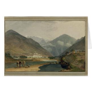 Tarjeta La capital anterior del invierno de Bhután en el