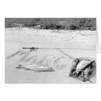 Tarjeta La captura del pescador, Marco Island, la Florida,