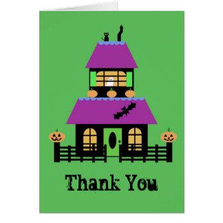 Tarjeta La casa encantada le agradece notecard