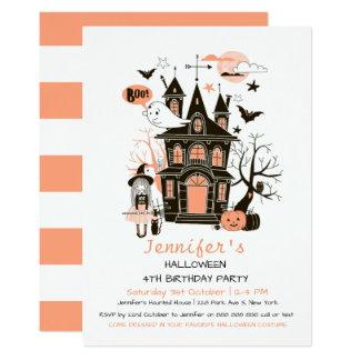 Tarjeta La casa encantada preciosa embroma el cumpleaños