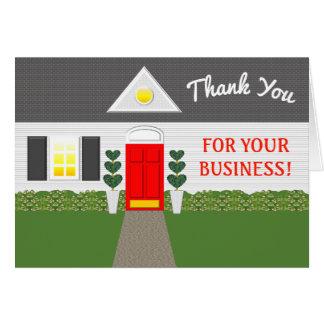 Tarjeta La casa linda del agente inmobiliario le agradece