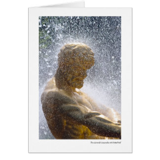 Tarjeta La cascada magnífica en Peterhof