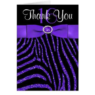 Tarjeta La CINTA IMPRESA púrpura, cebra negra le agradece