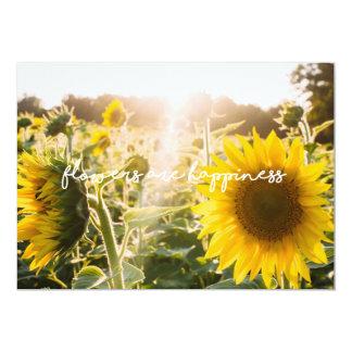 """Tarjeta La cita """"flores del girasol es felicidad """""""
