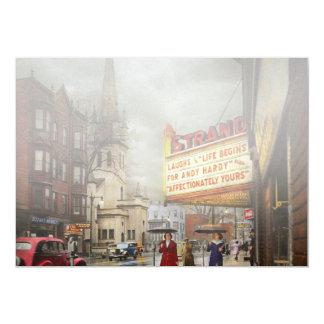Tarjeta La ciudad - Amsterdam NY - vida comienza 1941