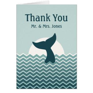 Tarjeta La cola de la ballena del boda le agradece