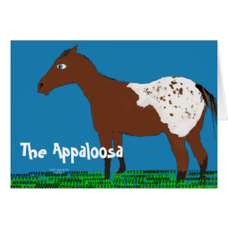 Tarjeta La colección caprichosa del caballo del appaloosa