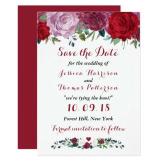 Tarjeta La colección floral romántica del boda