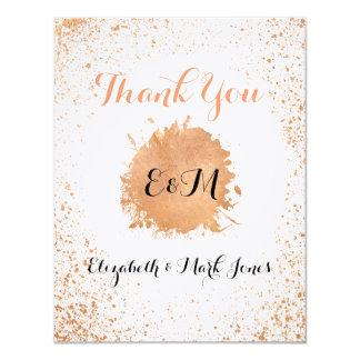 Tarjeta La colección viva de cobre del boda le agradece