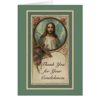 Tarjeta La condolencia católica del corazón sagrado le