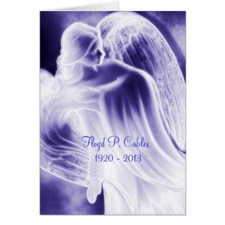 Tarjeta La condolencia del ángel azul de Florilla le