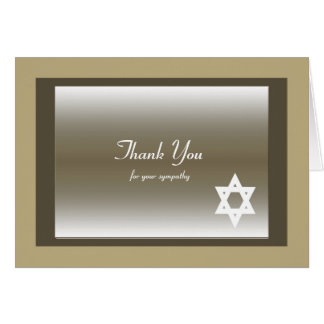 Tarjeta La condolencia judía clásica en blanco le agradece
