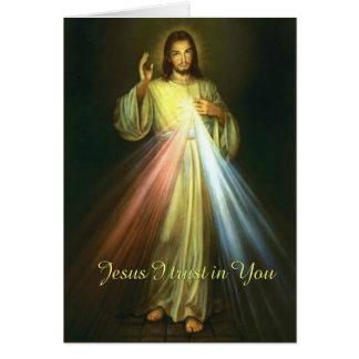 Tarjeta La confianza de Jesús I en usted adivina rezo de