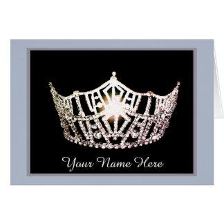 Tarjeta La corona de plata de Srta. América le agradece