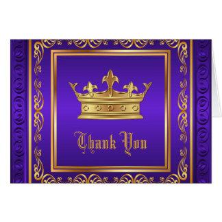 Tarjeta La corona púrpura del oro le agradece