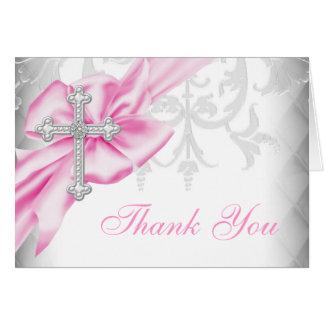 Tarjeta La cruz rosada del damasco le agradece