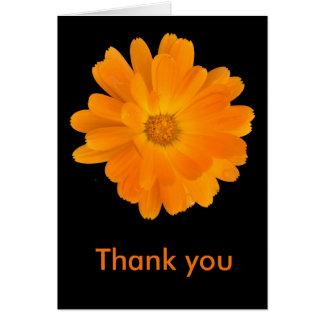 Tarjeta La dalia anaranjada vibrante le agradece cardar