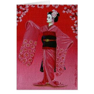 """Tarjeta """"La danza de la flor de cerezo"""" (Miyako Odori)"""