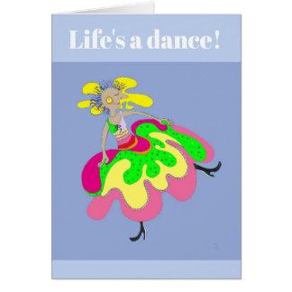 Tarjeta ¡La danza de la vida!