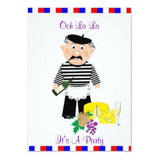Tarjeta La del La de Ooh es una noche temática francesa