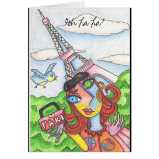Tarjeta ¡La del La de Ooh! Mujer en París