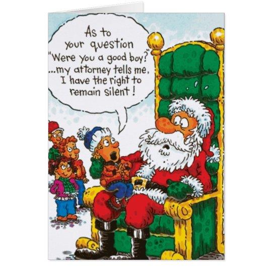 Tarjeta La derecha de Santa a sigue siendo silenciosa