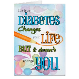 Tarjeta La diabetes consigue tipografía brillante bien del