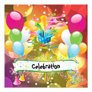 Tarjeta La diversión del fiesta hincha la celebración de