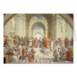 Tarjeta La escuela de Raphael de Atenas