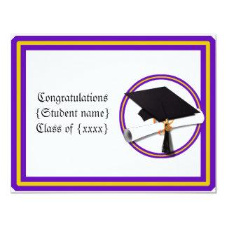 Tarjeta La escuela del diploma del graduado colorea