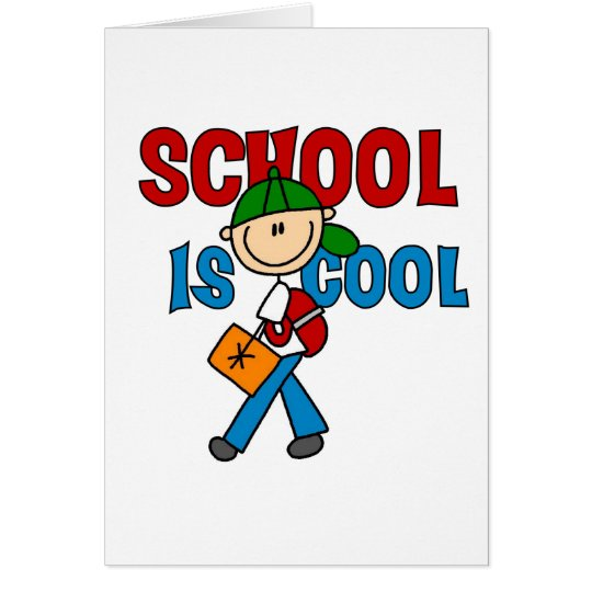 Tarjeta La escuela del muchacho es fresca