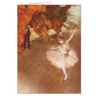 Tarjeta La estrella (bailarina de Prima) por Edgar Degas