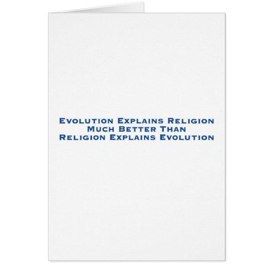 Tarjeta La evolución explica la religión