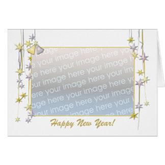 Tarjeta La Feliz Año Nuevo protagoniza el blanco (el marco