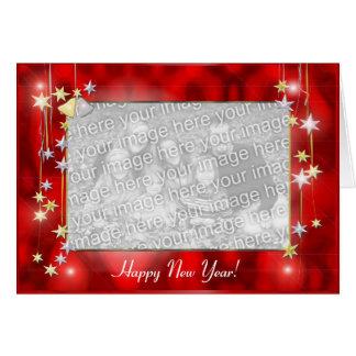 Tarjeta La Feliz Año Nuevo protagoniza (el marco de la
