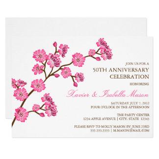 Tarjeta La fiesta de aniversario de la flor de cerezo el |