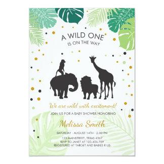 Tarjeta La fiesta de bienvenida al bebé del safari invita