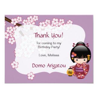Tarjeta La fiesta de cumpleaños de la muñeca de Sakura