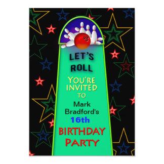 Tarjeta La fiesta de cumpleaños de los bolos - 5x7 -
