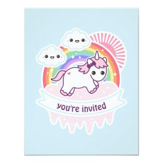 Tarjeta La fiesta de cumpleaños del unicornio de la nube