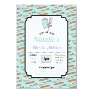 Tarjeta La fiesta de cumpleaños invita al cocinero de la