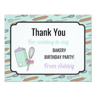 Tarjeta La fiesta de cumpleaños le agradece invita a la