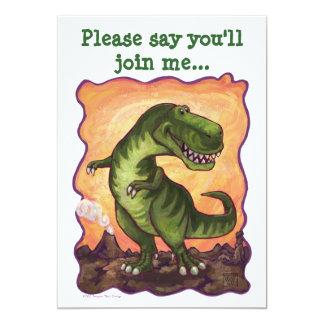 Tarjeta La fiesta de cumpleaños linda del dinosaurio de