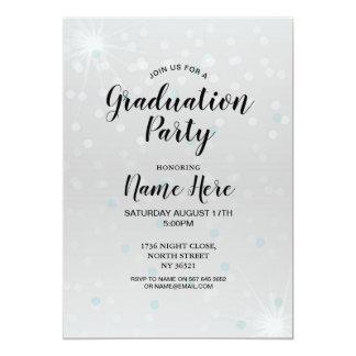 Tarjeta La fiesta de graduación invita a elegante gris de