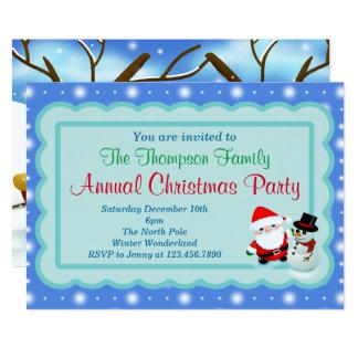 Tarjeta La fiesta de Navidad invita