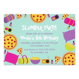 Tarjeta La fiesta de pijamas embroma cumpleaños
